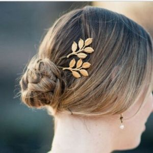 Fashion Women Girls Leaf Hair Clip Hairpin Barrett